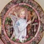 Click here to enlarge image and see more about item GARDEN4: GARDENS OF INNOCENCE GRACE Angel Donna Richardson Bradex 84-B10-10.5 Butterflies Blon