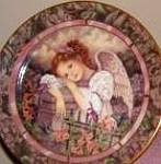 Click here to enlarge image and see more about item GARDEN5: GARDENS OF INNOCENCE SERENITY Angel Donna Richardson Bradex 84-B10-10.6 Hummingbirds