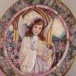 Click here to enlarge image and see more about item GARDEN7: GARDENS OF INNOCENCE HARMONY Angel Donna Richardson Bradex 84-B10-10.9 Heartlike Lyre