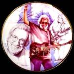 Click to view larger image of Gartlan JERRY GARCIA Black & White Study With A Touch Of Gray Taylor Grey Grateful 97 (Image3)
