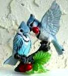 Click to view larger image of Fruits of Love : Garden Romances Are Forever Bluejays by B. Cleaver (Image3)