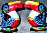 Click here to enlarge image and see more about item GUINNESS1: NIB Enesco Guinness Guiness Heritage Toucan Salt & Pepper Shakers Pots Ceramic G0075