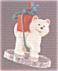 Click to view larger image of 1989 CAROUSEL HORSE SET Of 4 + Display Stand XPR9719-23 SNOW HOLLY STAR GINGER (Image6)