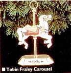 Click here to enlarge image and see more about item HALL67: Tobin Fraley Carousel Hallmark QX506-9 QX5069 #4 White Horse NRFB M. C. Illions