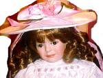 Click to view larger image of 1996 HELEN M CARR # 4 ROSALEE RETIRED Hamilton Collection Ashton Drake Porcelain Doll (Image2)