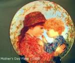Click to view larger image of Edna Hibel Mother's Day '88 Sarah & Tess Bradford Exchange Bradex #84-K41-9.5 Knowles (Image1)