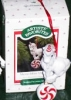 Click to view larger image of MERRY-MINT WHITE Porcelain UNICORN QX423-4 Red Striped Horn Peppermint Candy MIB 1988 (Image2)
