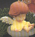 Click here to enlarge image and see more about item HM23: Mary's ANGELS #1 BUTTERCUP SCULPTED 1988 QX407-4 Hamilton
