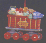 Click here to enlarge image and see more about item HM26: MINI 1990-QXM575-6 NOEL R.R. #2 RED COAL CAR