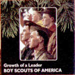 Click here to enlarge image and see more about item HM35: Hallmark 1996 QX554-1 Boy Scouts Of America Growth a Leader Norman Rockwell BSA Eagle