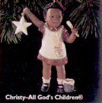 Click here to enlarge image and see more about item HM40: All God's Children 1 Christy Ornament Miss Martha Holcomb Negro Black AfricanAmerican