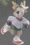 Click here to enlarge image and see more about item HM47: QX422-3 Reindeer Champs #1Dasher 86' SPORTS SCULPTED Bob Siedler QX4223 Marathon