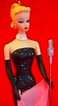 Click here to enlarge image and see more about item HMO2: 1995 QXI504-9 BARBIE SOLO IN THE SPOTLIGHT#2 Evening Gown Microphone Andrews