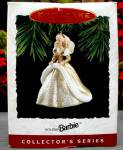 Click to view larger image of 1994 QX521-6 HOLIDAY BARBIE #2 Gold White Gown Christmas Ensemble 94 Keepsake Ornamen (Image2)