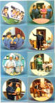 Click to view larger image of The Only Way to Travel 7 Honeymooners Classic TV Ralph Kramden Gleason Carney Kilmer (Image3)