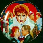 Click to view larger image of Official Lucille Ball Commemorative 10 1/4 in. Plate I LOVE LUCY Morgan Weistling (Image1)
