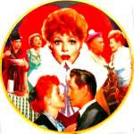 Click to view larger image of Official Lucille Ball Commemorative 10 1/4 in. Plate I LOVE LUCY Morgan Weistling (Image2)