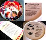 Click to view larger image of Official Lucille Ball Commemorative 10 1/4 in. Plate I LOVE LUCY Morgan Weistling (Image5)