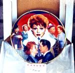 Click to view larger image of Official Lucille Ball Commemorative 10 1/4 in. Plate I LOVE LUCY Morgan Weistling (Image8)