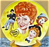 Click to view larger image of LUCILLE BALL TRIBUTE I LOVE LUCY Mike Hagel Collage 10 1/4 Yellow Royal Manor Hobo Pl (Image2)