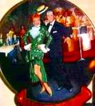 Click to view larger image of '92 NIGHT AT THE COPA I LOVE LUCY KRITZ PLATE (Image1)