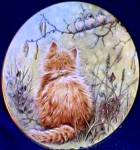 Click here to enlarge image and see more about item KCP3: Kitten Classics Bird Watcher BirdWatcher Cats Pam Cooper Royal Worcester Crown Ware