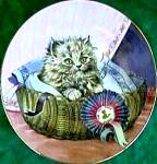 Click here to enlarge image and see more about item KCP4: Kitten Classics #8 First 1st Prize : Pam Cooper Royal Worcester Crown Ware Cat Kitty