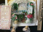 Click here to enlarge image and see more about item KK2: '96 Knick Knack Kitty Cats KITTENS IN THE PLANTS 3-D Sculptural Plaque Art: L. Yencho