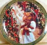 Click here to enlarge image and see more about item KUCK4: SANDRA KUCK NIGHT BEFORE CHRISTMAS VICTORIAN Girl Teddy Bear Reco Bradford Bradex '96
