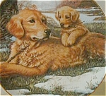 Click to view larger image of Golden Moments : Sporting Generation - Artist Jim Lamb dogs Golden Retriever pups (Image1)