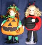 Click to view larger image of Little Ladybug Cobabe's Costume Kids L.Laura COBABE Halloween Girl 1994 Bug Sunflower (Image5)