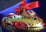 Click to view larger image of 2001 ANTIQUE TOYS ROCKET SHIP Lenox Yuletide Treasures Blown Glass Ornament POLAND (Image2)