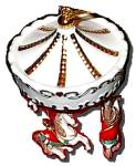 Click to view larger image of LENOX Porcelain HOLIDAY 3 Horse CAROUSEL ORNAMENT # 6092076 Undated Horses Christmas (Image1)