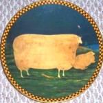 Click to view larger image of WOOLGATHERING SHEEP Warren Kimble Barnyard Animal Series Japan Lithograp France Lenox (Image1)