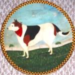 Click to view larger image of BARNYARD DOG Warren Kimble Barnyard Animals Collection LENOX 94 Japan France Bandanna (Image1)