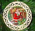 Click here to enlarge image and see more about item LENOX73: LENOX SANTA PORTRAIT ORNAMENT #5 DRESSED ALL IN FUR  'Twas the Night Before Christmas
