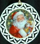 Click here to enlarge image and see more about item LENOX77: LENOX SANTA ORNAMENT #6 HIS EYES HOW THEY THEY  TWINKLED 'Twas Night Before Christmas