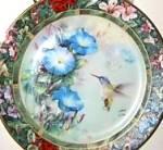 Click here to enlarge image and see more about item LIU2: Violet Crowned Hummingbird Lena Liu's Hummingbird Treasury Bradex 1992 #3 84-G20-71.3