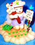 Click here to enlarge image and see more about item LMHG1: LITTLE MESSENGER HEAVENLY GARDENER REAP ANGEL