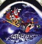 Click here to enlarge image and see more about item LOONEY1: Whats Up Santa? Looney Toons - Bugs Taz WB Loony