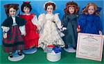 Click here to enlarge image and see more about item LTLWMN6: LITTLE WOMEN AT CHRISTMAS PRESENTATION SET #92339 92331-5 8in. Ashton-Drake W. Lawton