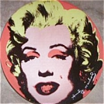 Click here to enlarge image and see more about item MARILYN1: Andy Warhol Marilyn Monroe on Pink Limited Edition 10 in Plate 1998 #WMM407 Block Chi