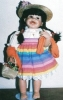 Click to view larger image of LEILA 1999 Cindy Marschner Rolfe Hamilton Ashton Drake Mexican girl 19 ½ inch Mexican (Image2)