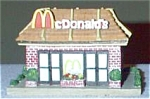 Click here to enlarge image and see more about item MCD1: Dept.56-like Mcdonald's Restaurant + Figures Group II Communications Hales Corners WI