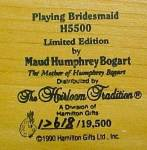 Click to view larger image of Playing Bridesmaid Little Ladies M.H.Bogart (Image5)