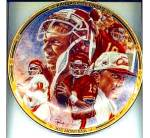 Kansas City Chiefs Joe Montana CHIEF ON THE FIELD Artist Petronella Hamilton NFL