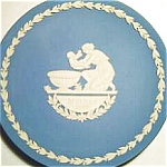 Click to view larger image of MOTHER'S DAY PLATE Blue White Jasperware WEDGWOOD WEDGEWOOD 1973 Baptism Achilles #3 (Image1)