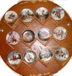 Click to view larger image of TOP GUN Mystic Warrior Mini Mini-Plates Chuck Ren Indian Brave Horse Appaloosa Native (Image2)