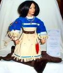 Click to view larger image of Noble American Indian Women FALLING STAR David Wright Native Doll MIB Historical 1997 (Image2)