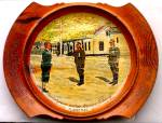 Click here to enlarge image and see more about item NAZI1: German Nazis Surrender in Norway Painted Wooden Plate May 11th 1945 WWII Hitler